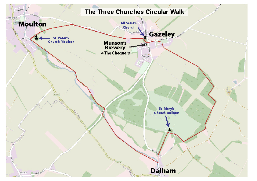 the three churches walk map